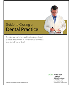 Guide Cover: Guide to Closing a Dental Practice