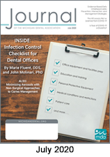 July 2020 Cover: Infection Control Checklists for Dentists